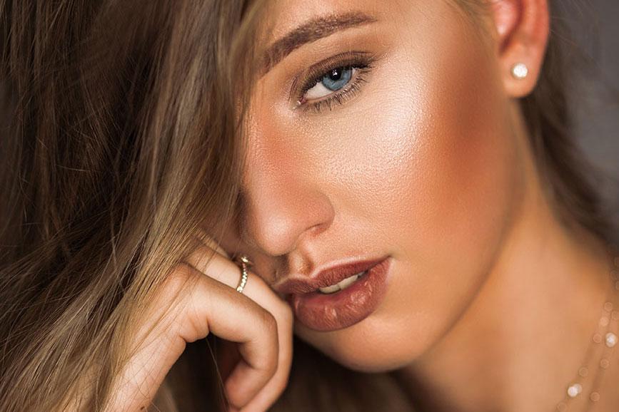 Beauty Porträt eines Models. Model Foto.